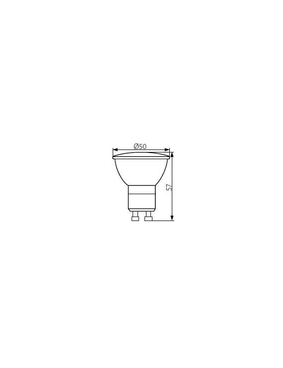 Faretto Led GU10 7W 570lm - PRO GU10
