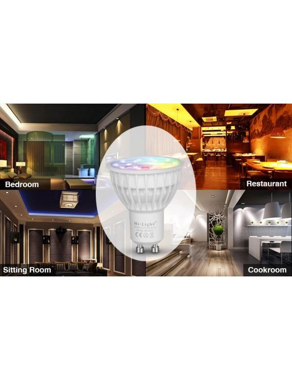 Mi-Light 4W Bombilla LED WiFi GU10 RGB+CCT FUT013