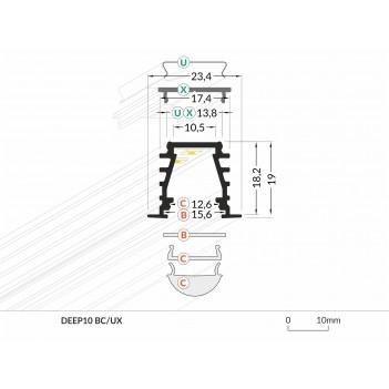 Barretta Led da Incasso DEEP10 Personalizzata e su Misura