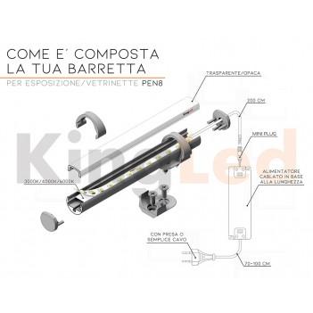 Barretta Led per Vetrina e Espositore 10W/mt 1000lm/mt 24V