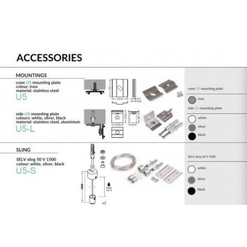 Ganci e Sistemi di Fissaggio U5 per Profilo ARC12
