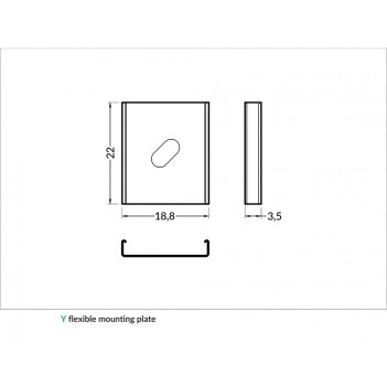 Set 2 Ganci Y-PLATE per Profilo in Alluminio