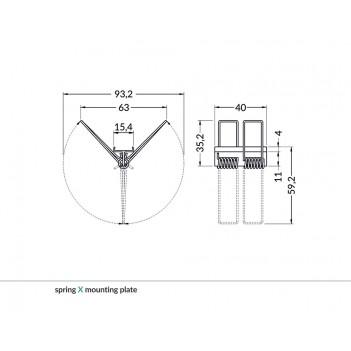 Set 2 Ganci per Farfalla per Profilo in Alluminio