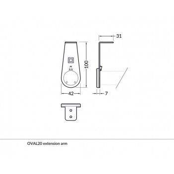 Set 2 Ganci Extension Arm...