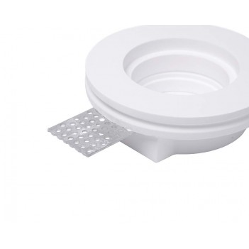 Round Led Wall Light 0627 Recessed in Ceramic Plaster for LED