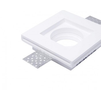 Slim Square Led Wall Light in Ceramic Plaster for Recessed
