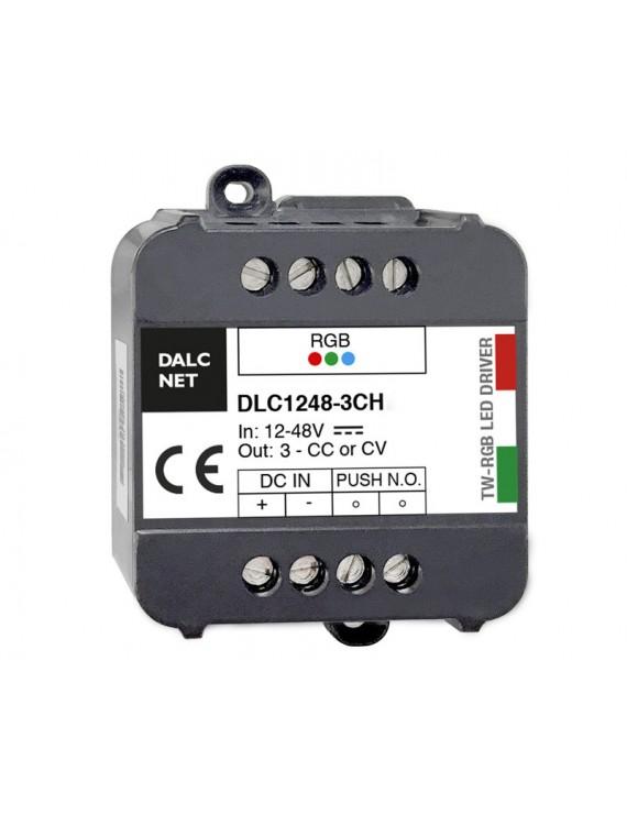 DALCNET DLC1248-3CV-RGB Controller RGB Push per Strisce Led 12V