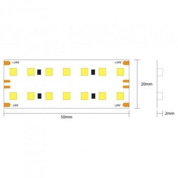 Wide Led Strip 20mm 1400 Led 160W SMD 2835 24V IP20