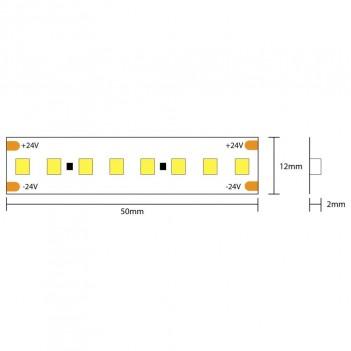 Tira LED High CRI 95+ 130W 15600LM 24V IP20 PCB 12MM 5MT 800