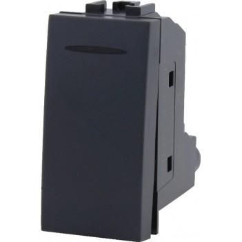 Interruttore 1 Modulo 1 Polo 16A Nero – Serie VING