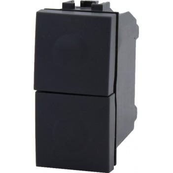 Pulsante 1 Modulo 1 polo 10A Nero – Doppio – Serie VING