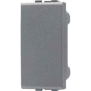 Copri Foro 1 Modulo Silver Tech - 2 Pezzi - Serie Lute