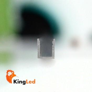 Profilo Alluminio 1mt L063 Superslim 5mm + Cover + Ganci +