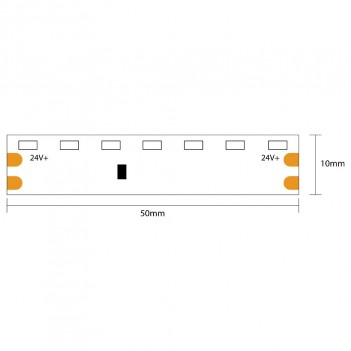 Led Strip Side View 48W 2400LM 24V IP20 PCB 8MM 5MT 600 units