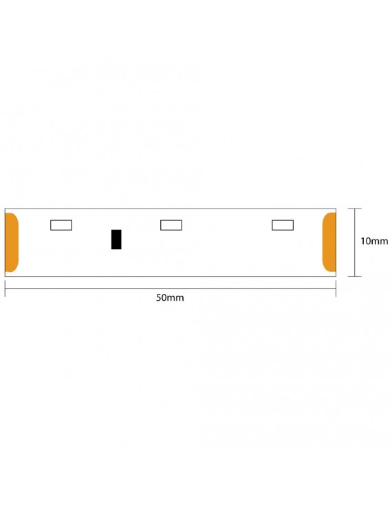 Striscia Led Side View 24W 1200lm 12V IP20 PCB 8mm Bobina da