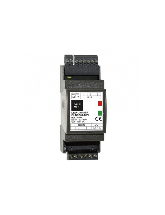 DALCNET DLD1248-1CV-DMX BARRA DIN 2M - DMX 0-10V 1-10V Push