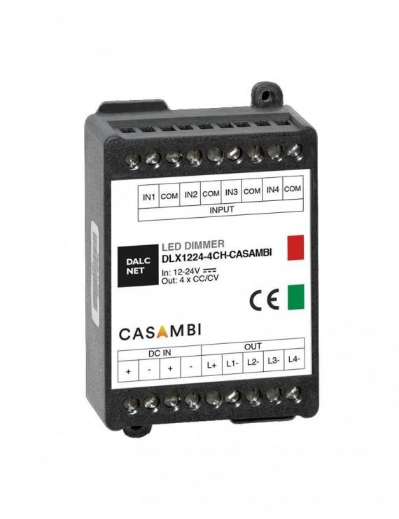 DALCNET DLX1224-4CV - CASAMBI - CONTROLLER DIMMER 4CH Gestione