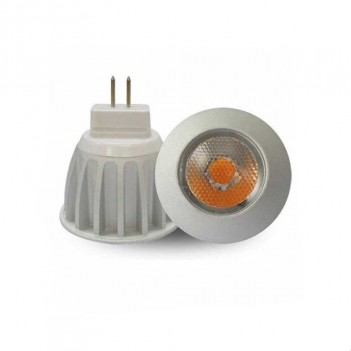 LAMPADA MR11 LAMPADINA LED GU4 FARETTO COB SHARP 3W DC12V 250LM