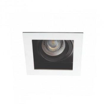 Portafaretto Quadrato Orientabile Bianco/Nero Incasso Foro 90mm