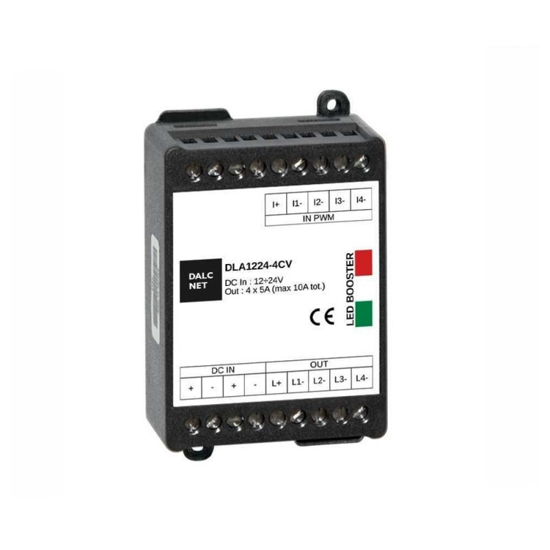 DALCNET DLA-1224-4CV-BOOST Amplificatore 4CH 12-24V