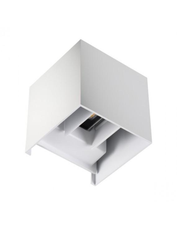 Applique da Muro 7W 500lm 4000K 220V IP54 – REKA Bianco Cubo