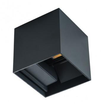 Applique da Muro 7W 360lm 4000K 220V IP54 – REKA Nero Cubo