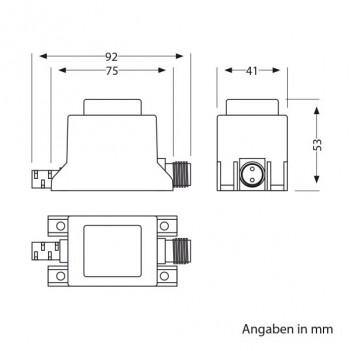 Alimentatore LED 10W con Sistema a Spina IP44 NEMO 12V AC
