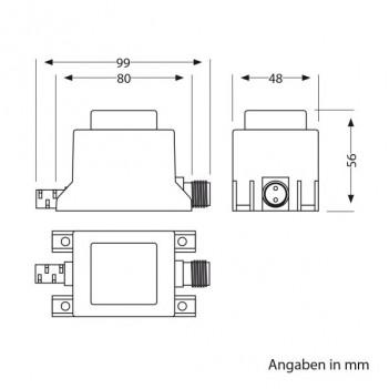 Alimentatore LED 20W con Sistema a Spina IP44 NEMO 12V AC