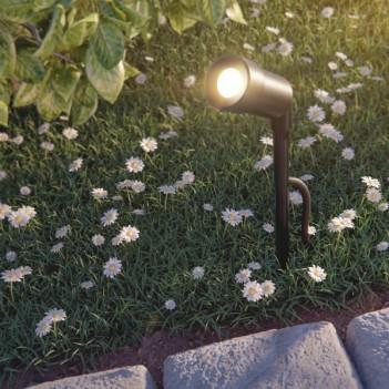 Faretto da Giardino a LED Nero con Picchetto di Terra per