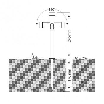 Faretto da Giardino con Picchetto 1,4W 68lm AC 12V IP44 – SPICO