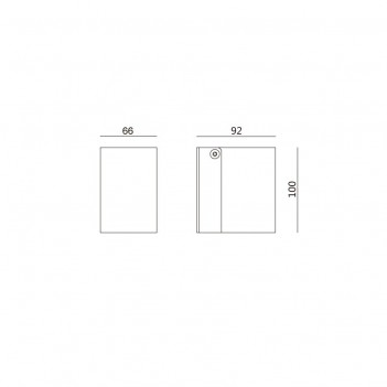 Applique da Muro Per Faretto Led GU10 220V IP54 – MISE Nero