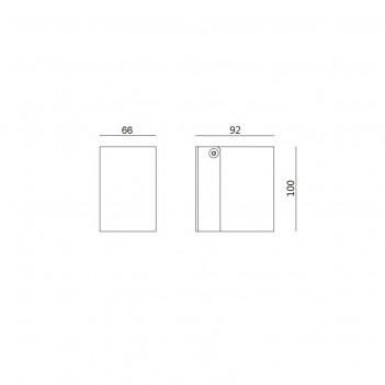 Applique da Muro per Faretto Led GU10 - da Esterno IP54 - MISE
