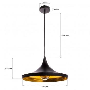 Lampada da Sospensione PRESLEY con Attacco E27 – Nero