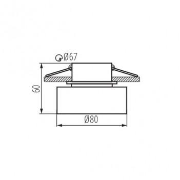 Portafaretto da Incasso Rotondo con Vetro Opaco – Foro 67mm –