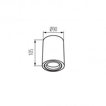 Portafaretto Applique Orientabile per Faretto Led GU10 - TOLEO