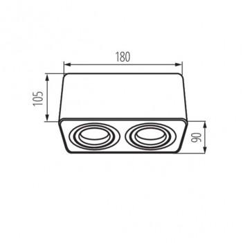 Portafaretto GU10 Applique Orientabile per 2 Faretti Led