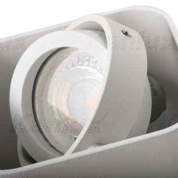 Portafaretto Applique Orientabile per 2 Faretti Led GU10 –