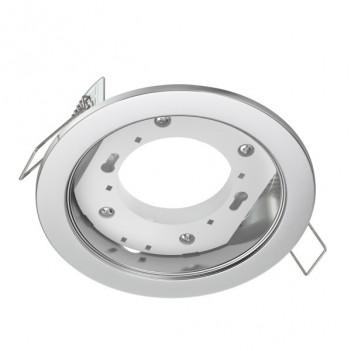 Portafaretto da Incasso per Lampada Led GX53 Foro 90mm - Cromato