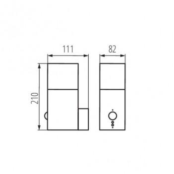 Applique da Muro Per Lampadina E27 220V IP44 – VADRA con