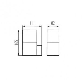 Applique da Giardino Luce da Esterno Attacco E27 - IP44 - VADRA