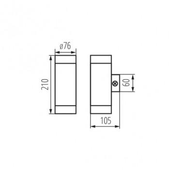 Applique da Muro Up&Down per 2 Faretti Led GU10 220V IP44 –