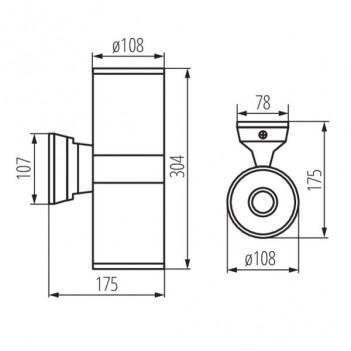 Applique da Muro Up&Down per 2 Lampadine E27 220V IP54 – BART