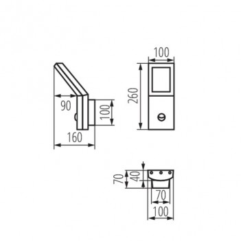 Applique da Muro 9,5W 600lm 4000K 220V IP44 – SEVIA con Sensore