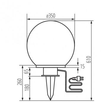 Lampada Sfera da Giardino per E27 - da Esterno IP44 - IDAVA 35