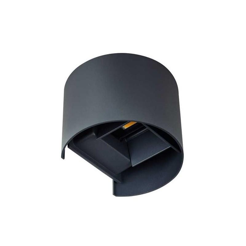 Applique da Muro 7W 380lm 4000K 220V IP54 – REKA Nero Rotondo