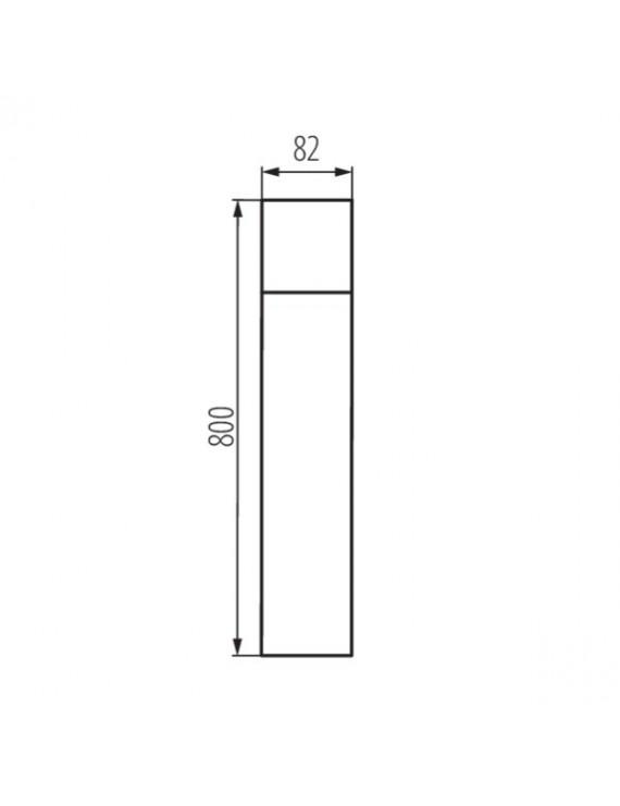 Paletto da Giardino per Lampadina Led E27 220V IP44 – VADRA 80