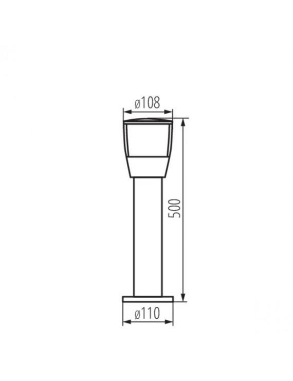 Paletto da Giardino per Lampadina Led E27 220V IP44 – SORTA 50
