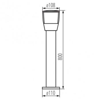 Palo da Giardino Lampada da Esterno per E27 Max 20W - IP44 -