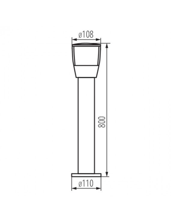 Paletto da Giardino per Lampadina Led E27 220V IP44 – SORTA 80