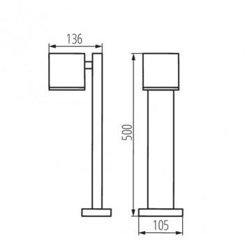 Paletto da Giardino per Faretto Led GU10 220V IP44 – GORI 50 cm